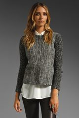 Theory Alimo Aglow Tweed Blazer in Blackwhite - Lyst