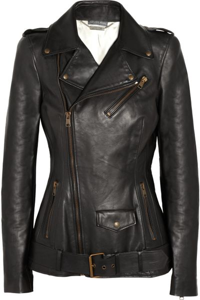 Alexander Mcqueen Leather Biker Jacket in Black - Lyst