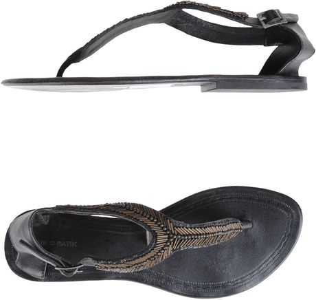 Antik Batik Flip Flops in Gray (black) - Lyst