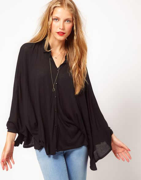 Asos Collection Asos Oversize Shirt in Black - Lyst