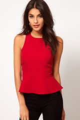 ASOS Collection Asos Textured Top with Peplum - Lyst