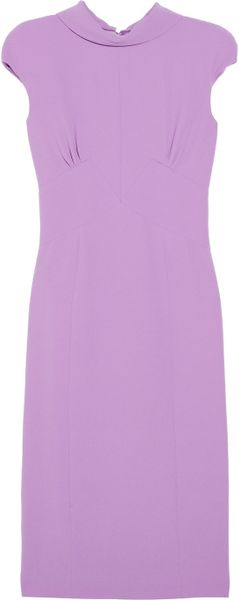 Bottega Veneta Crepe Dress in Purple (lilac) - Lyst