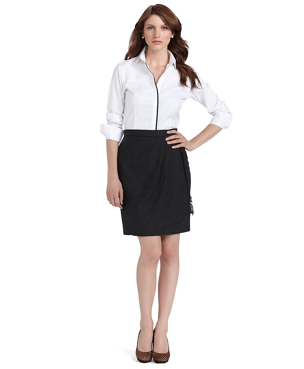 Lyst Brooks Brothers Noniron Tailored Fit Solid Dress
