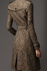 Burberry Long Lace Trench Coat in Brown (pebble) - Lyst
