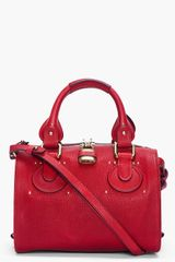 Chloé Small Burgundy Duffle Bag - Lyst