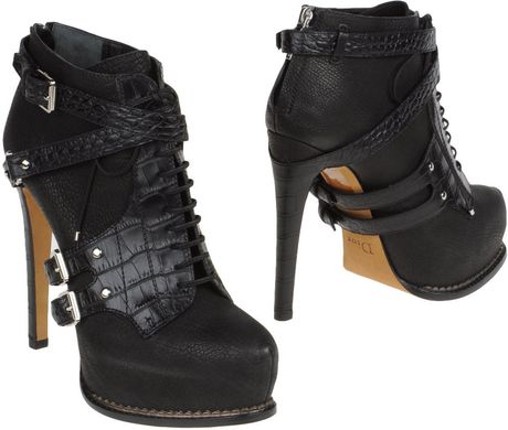 Dior Ankle Boots in Black - Lyst