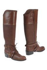 Dior Highheeled Boots in Brown (cocoa) - Lyst