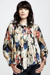 Elizabeth And James Celeste Printed Blouse in Multicolor (black multi) - Lyst