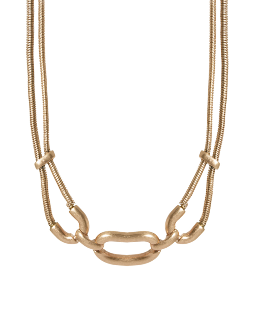 connection knot necklace in gold lyst