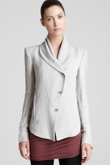 Helmut Lang Jacket Plexus Suiting in White (plaster) - Lyst