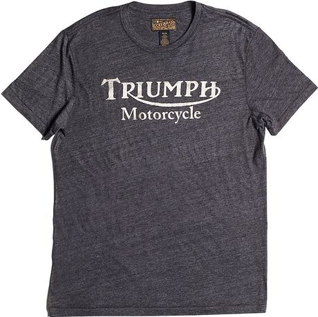 Lucky brand triumph motorcycle t shirt in gray for men for Lucky brand triumph shirt