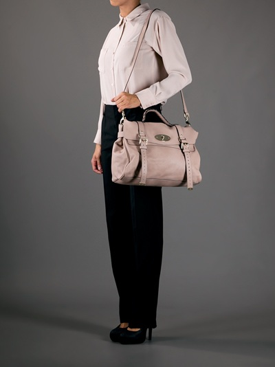 e2421b8666e ... best mulberry oversized alexa bag in natural lyst 39baf 7130b