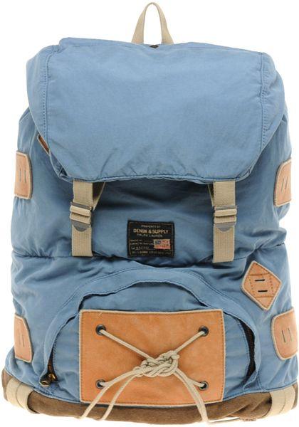 Ralph Lauren Hiking Backpack In Blue For Men Lyst