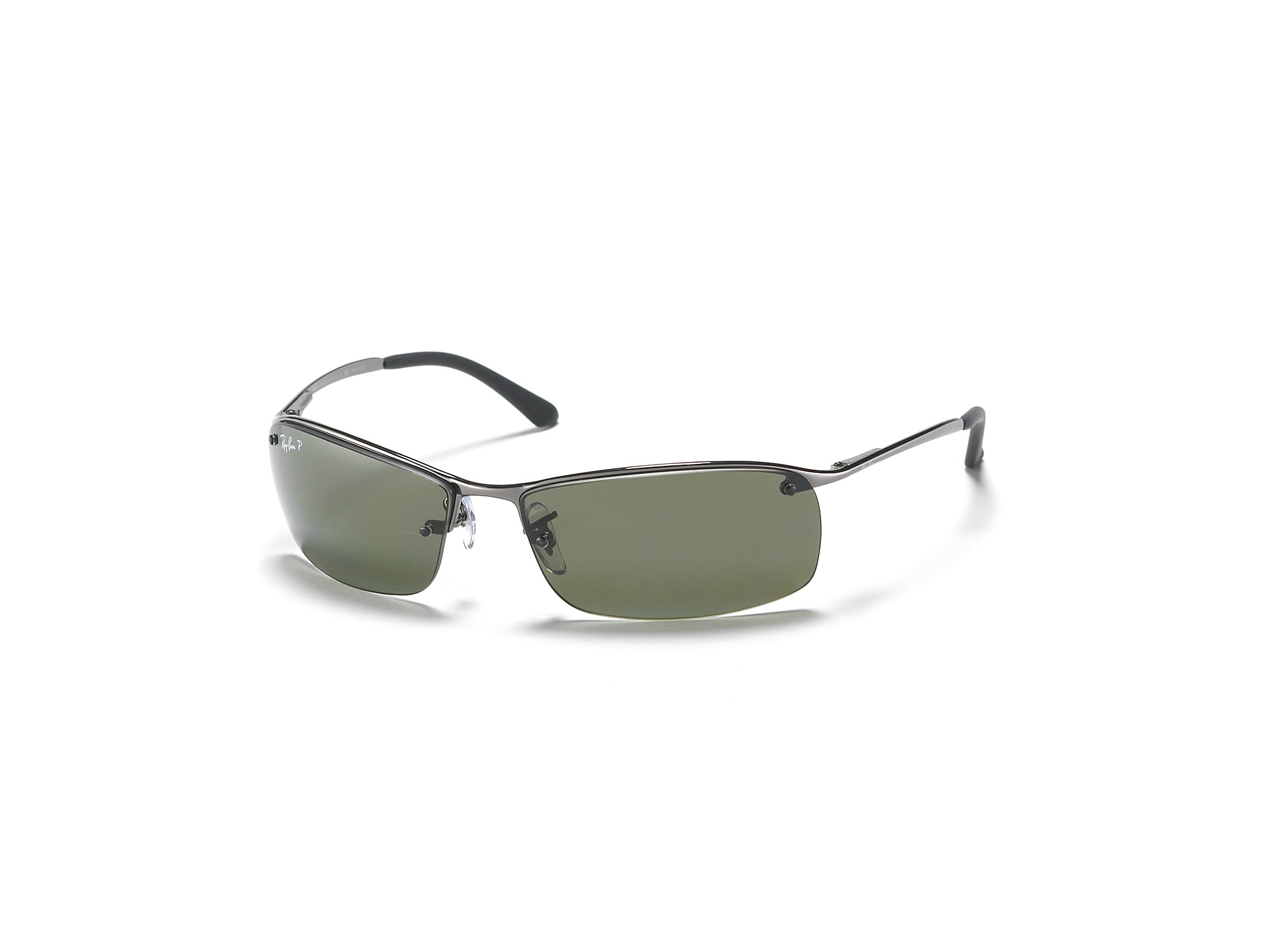 Rimless Polarized Sunglasses : Ray-ban Rimless Bottom Polarized Sunglasses in Gray for ...