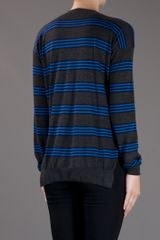 Stella Mccartney Contrast Striped Sweater in Blue (grey) - Lyst