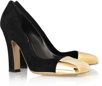 Yves Saint Laurent Mae Suede Pumps - Lyst
