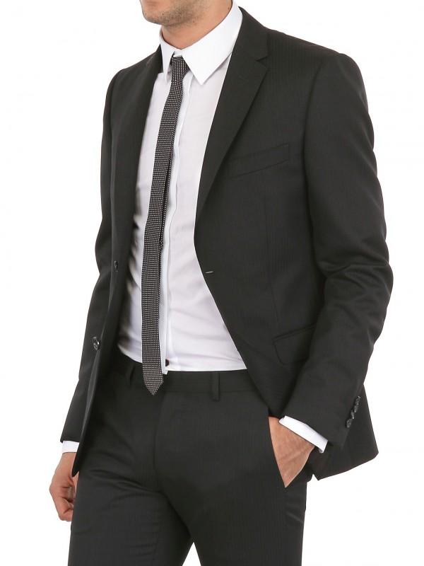 Z zegna 3 Piece Pinstripe Wool Slim Fit Suit in Gray for Men | Lyst
