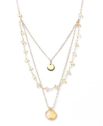Alicia Marilyn Designs Triple Strand Citrine Necklace - Lyst