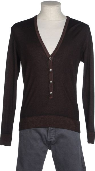 Daniele Fiesoli Long Sleeve V-Neck Cardigan - Lyst
