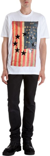 Givenchy Black Star Flag Tee - Lyst
