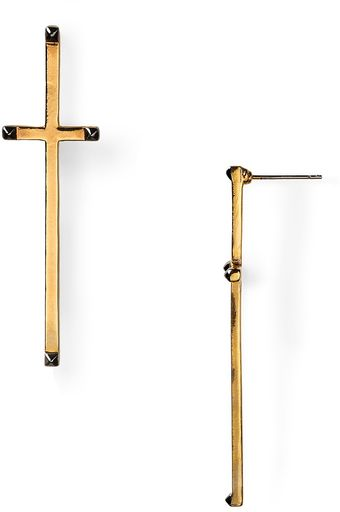 House Of Harlow 14kt Plated Long Cross Earrings - Lyst