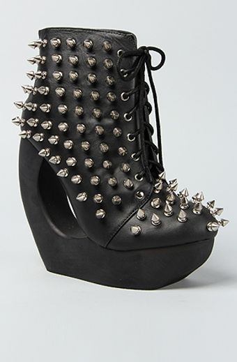 Jeffrey Campbell The Spiked Roxie Shoe in Black and Silver - Lyst