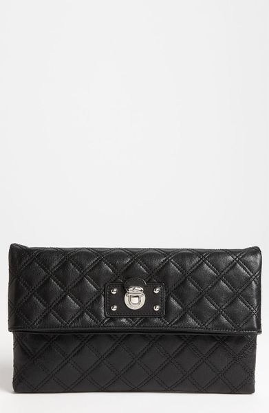 Marc Jacobs Sandy Leather Shoulder Bag in Black (black/ nickel) - Lyst