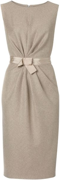 Max Mara Studio Sole Sleeveless Tunic Dress with Bow Waist - Lyst
