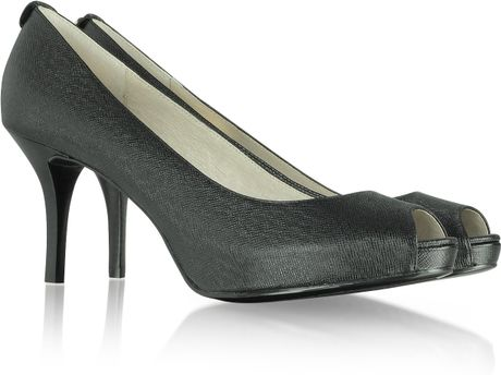 Michael Kors Michael Flex Open Toe Pump in Black (jet) - Lyst