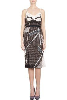 Nina Ricci Patchwork Lace Cami Dress - Lyst