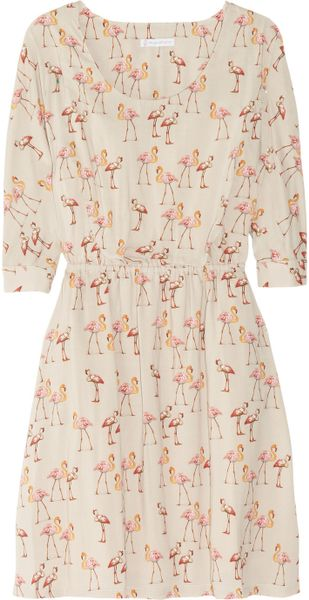 Paul & Joe Sister Saudade Flamingo-print Voile Dress in ...
