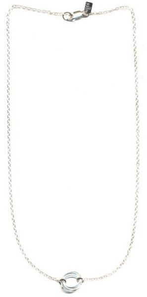 Peggy Li Single Clustered Circle Necklace Ss - Lyst