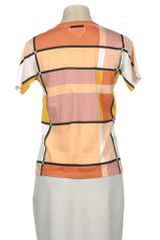 Prada Short Sleeve Tshirt in Multicolor (pink) - Lyst