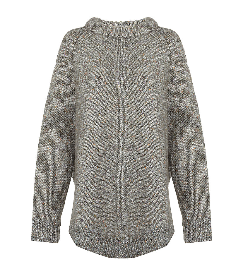 Schumacher Chunky Knit Oversized Sweater in Gray | Lyst