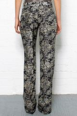 Theory Snake Print Silk Pants in Animal (snake) - Lyst
