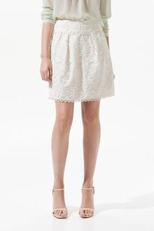 Zara Guipure Lace Skirt with Raised Pattern - Lyst