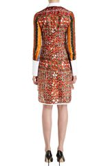 Altuzarra Multipattern Print Shirt Dress in Brown (multi) - Lyst