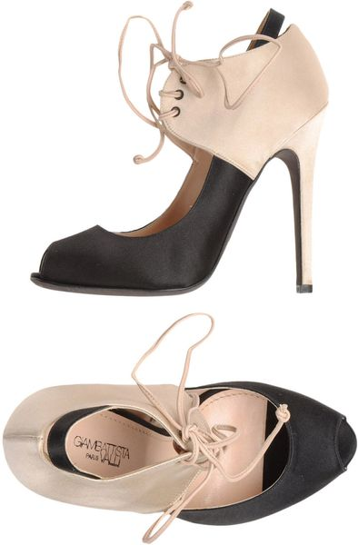 Giambattista Valli Pumps with Open Toe in Black