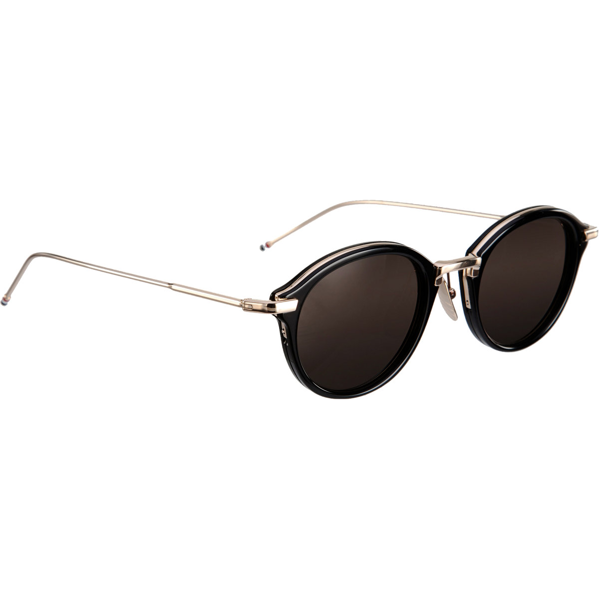 9e0c1d7c68 Thom Browne Round 46 Sunglasses in Black for Men - Lyst