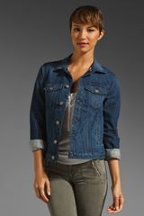 7 For All Mankind Denim Jacket - Lyst