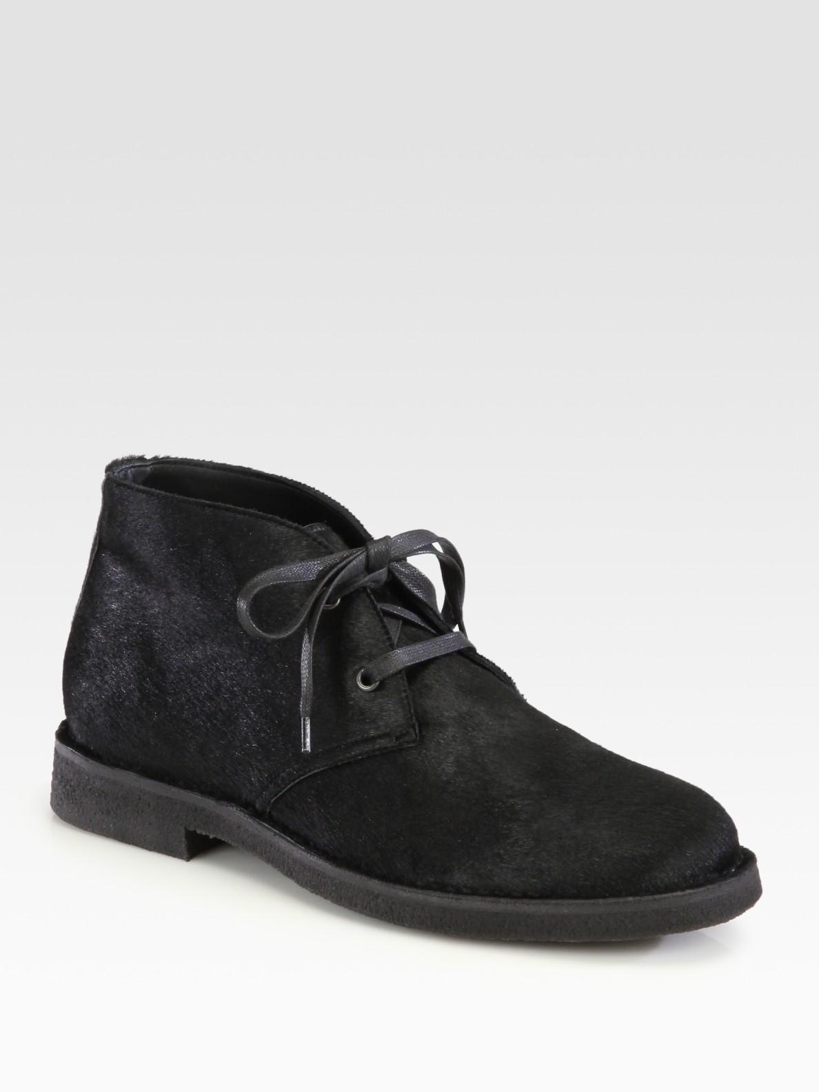 Bottega Veneta Ponyhair Chukka Boots fashion shoes clearance  hot sale online
