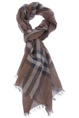 Burberry Brit Giant Check Scarf in Brown - Lyst