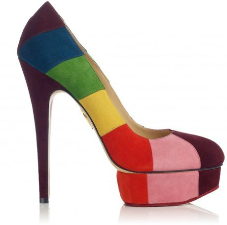 Charlotte Olympia Priscilla in Stripes in Multicolor - Lyst