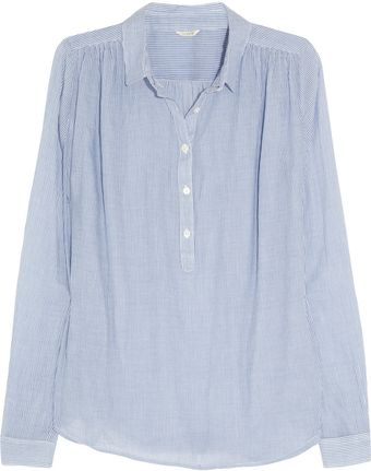 J.Crew Striped Cotton Voile Top - Lyst