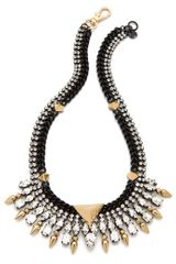 Juicy Couture Spike Collar Necklace with Rhinestones - Lyst