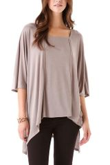 Lanston Oversized Raw Edge Top - Lyst