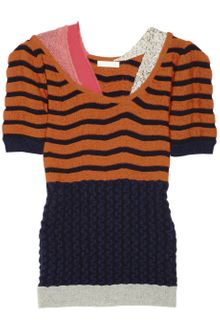 Michael Van Der Ham Contrastpaneled Striped Cashmereblend Sweater - Lyst