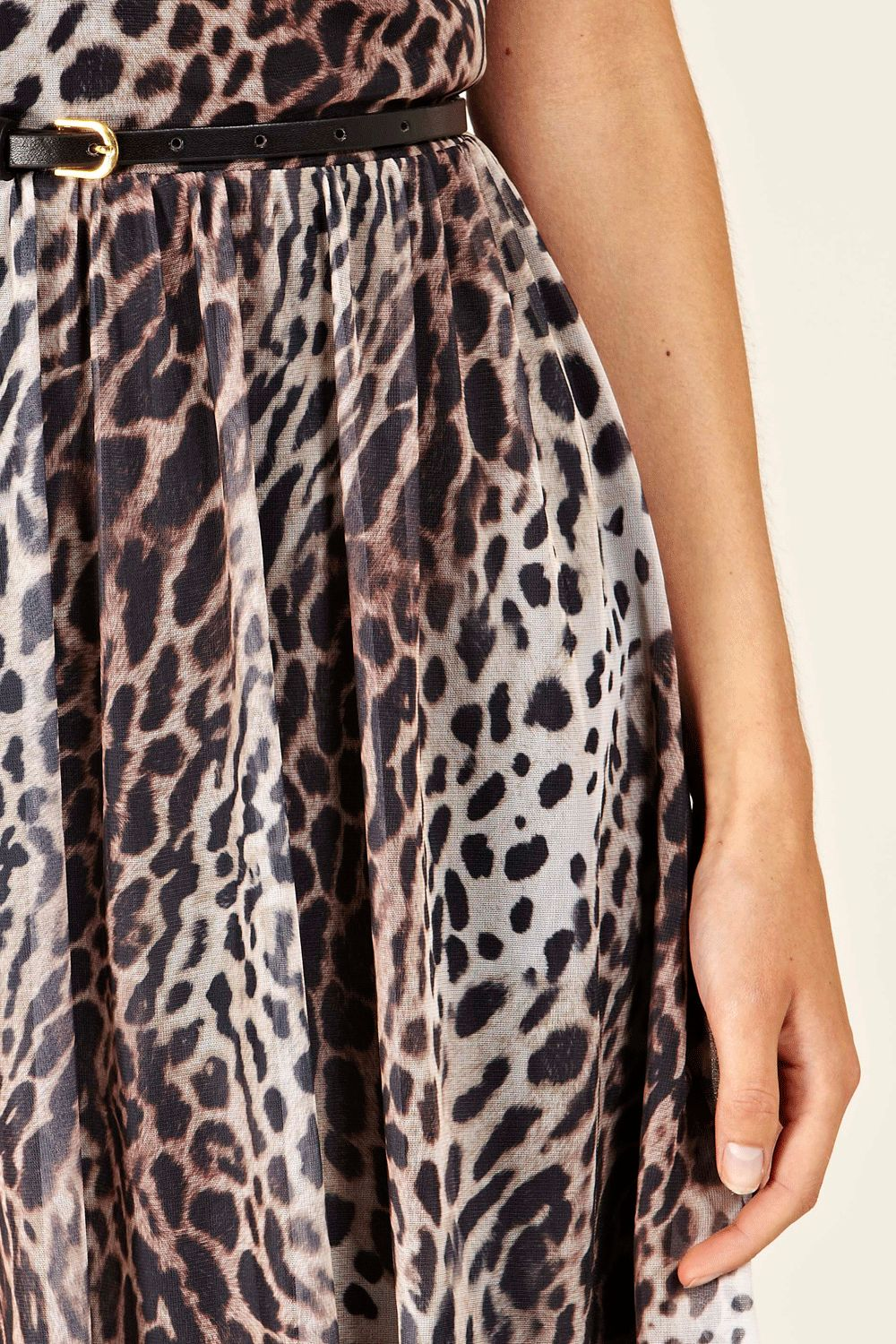 Oasis Leopard Print Skater Dress In Black Lyst