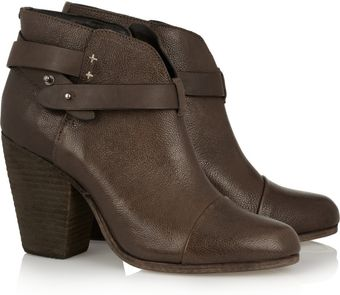 Rag & Bone Harrow Leather Biker Boots - Lyst