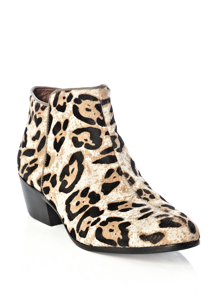 591d3d38d0591b Lyst - Sam Edelman Petty Leopardprint Boots